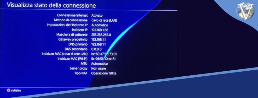 Verifica stato della connessione PS4 - Valcom Calabria