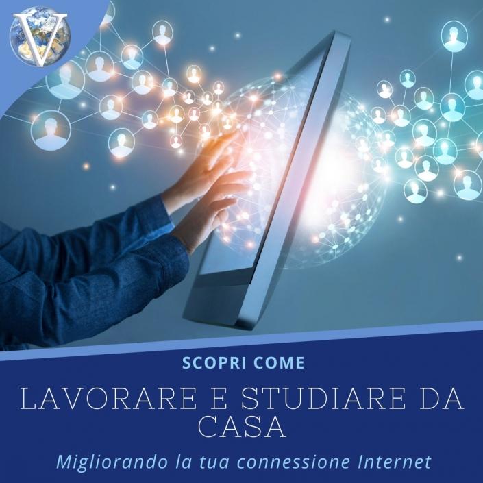 Lavorare e studiare da casa: come migliorare connessione Internet - Valcom Calabria
