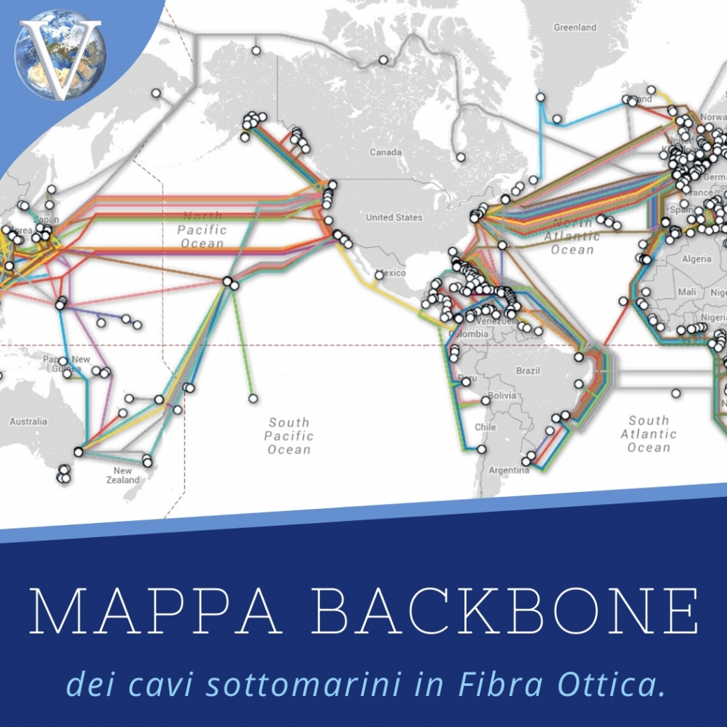 Mappa Dorsali Internet (Backbone) - Valcom Calabria
