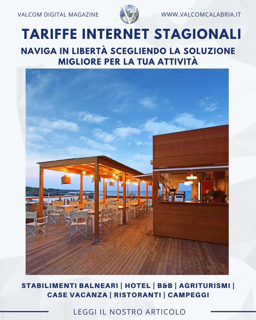 Valcom Calabria - Tariffe Internet Stagionali